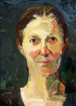 "Anka, 2003, Oil on Canvas, 12"" x 9""   <code>•</code>"