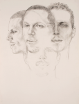 Antonio x 4, 2002, Graphite on paper