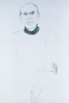 "Arthur (Gelb), 2002, Graphite on paper, 58"" x 38"""