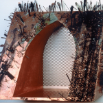 "Copper Nails, 1992, Mixed Media, 22"" x 27"" x 13"""