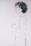 "Diane (Rose), 2002, Graphite on paper, 58"" x 38"""