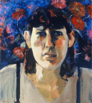 "Liz Series #10, 1991, Oil on Canvas, 34"" x 30"""