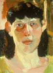 "Liz Series #15, 1991, Oil on Canvas, 20"" x 16"""
