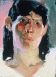 "Liz Series #1, 1991, Oil on Panel, 16"" x 20""   <code>•</code>"