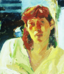 "Liz Series #7, 1991, Oil on Canvas, 34"" x 30"""