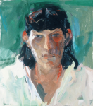 "Liz Series #5, 1991, Oil on Canvas, 34"" x 30"""