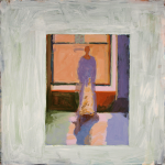 "Matisse Window, 2010, Acrylic on Board, 24"" x 24"""