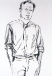 "Michael (Schultz), 2002, Graphite on paper, 58"" x 38""   <code>•</code>"