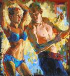 """The Dance, 2008, Acrylic on panel, 47 3/4"""" x 44 3/4"""""""