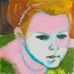 """Eloise, 2014, Acrylic on Acrylite, 24"""" x 24"""""""