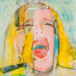 "The Cry (Mariana) #2 (front), 2014, Acrylic on Acrylite, 24"" x 24"""