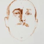 """Nestor, 2014, Acrylic on Acrylite, 24"""" x 24"""" <code>•</code>"""