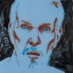 """Benton, 2014, Acrylic on Acrylite, 24"""" x 24"""" <code>•</code>"""