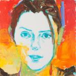 """Isabella, Acrylic on Acrylite, 24"""" x 24"""""""