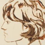 "Maggie, 2014, Acrylic on Acrylite, 24"" x 24"""