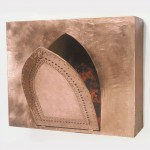 "Copper Door, 1992, Mixed Media, 18"" x 22"" x 15"""